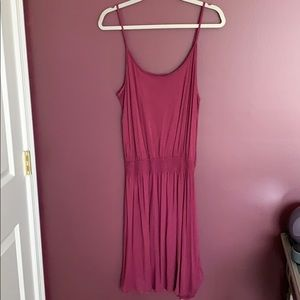 H&M basic maroon tank top dress